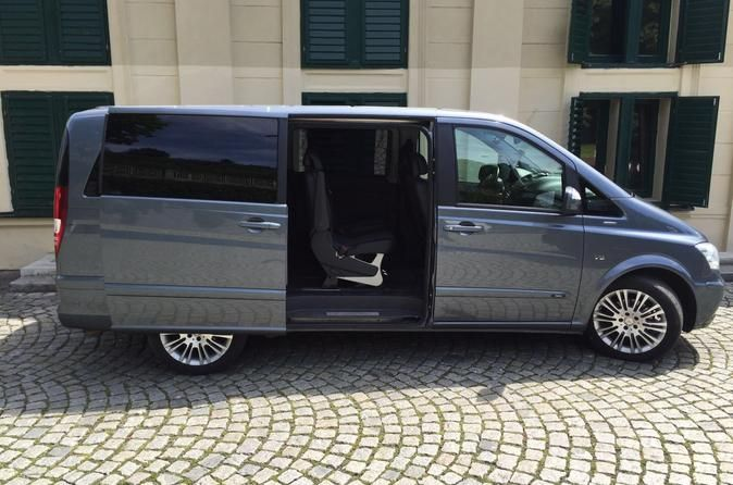 Private Arrival or Departure from or to Prague Airport for up to 8 passengers Private Airport transfer to or from Prague Airport for up to 8 passengersExclusive transfer between Prague Airport (Vaclav Havel Airport PRG) and the City Centre for up to 8 passengers in an executive Mercedes minibus. You will be taken care of by our experienced English speaking driver who will follow all your requests. Journey takes usually about 25 minutes in an ideal traffic situation and do...