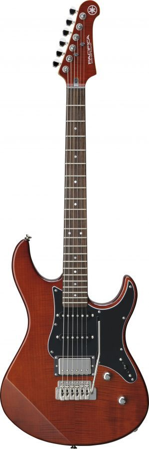 Yamaha Pacifica 612V FM Mk II Electric Guitar In Root Beer Finish with Flamed Maple Top & Black Scratchplate
