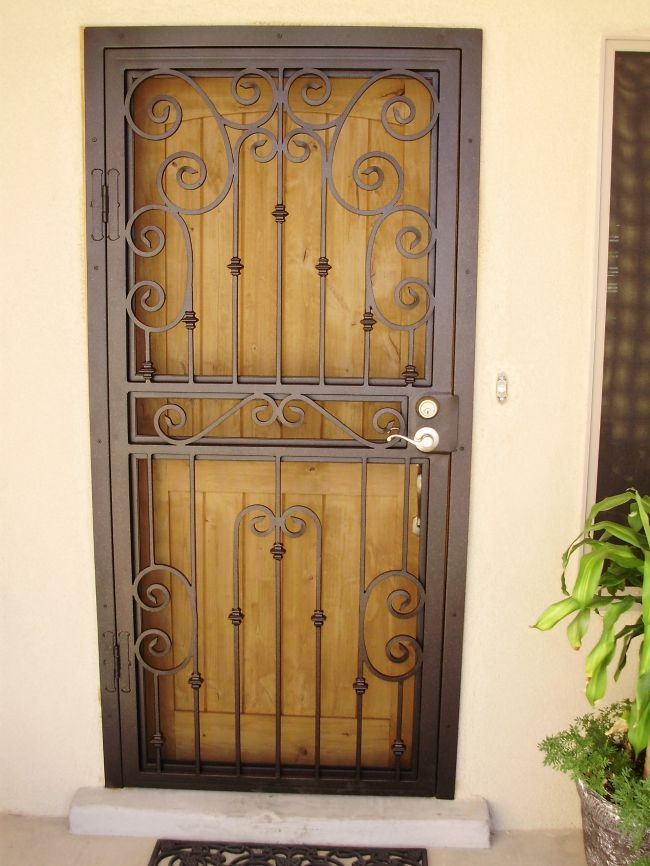 Pictures of screened entryway security screen door for Metal security doors