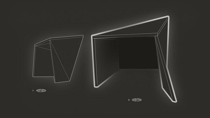 Brama – widok: 1. z głębi klubokawiarni i sceny / 2. zza drzwi do lokalu