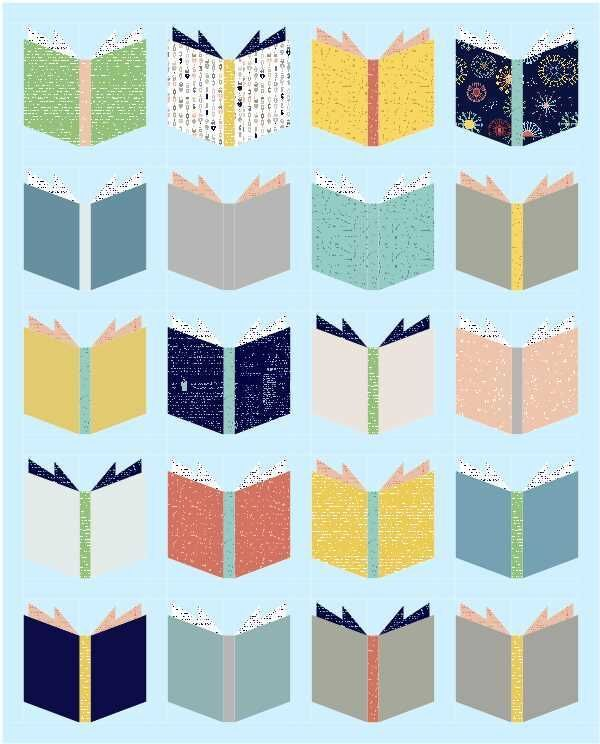 book nerd quilt