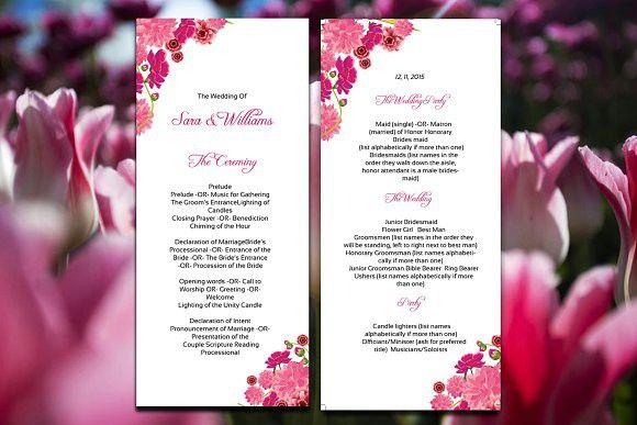 Wedding Ceremony Program Template #weddingprogram #weddingceremony