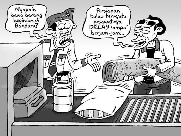 Kartun Benny, Kontan - Maret 2015: Keterlambatan Terbang