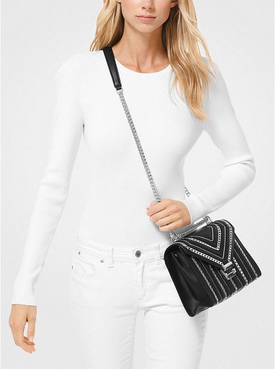 731782460 Whitney Large Chain-Link Quilted Leather Convertible Shoulder Bag