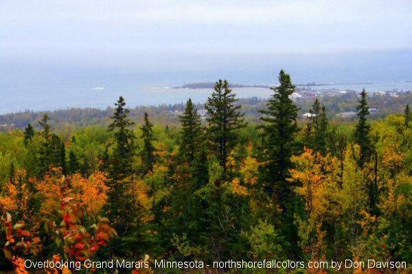Overlooking Grand Marais Minnesota