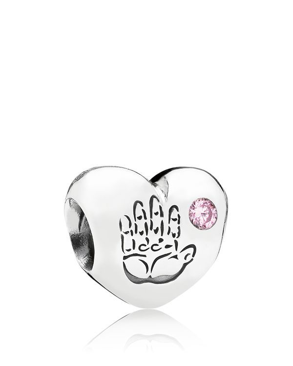 Pandora Charm - Sterling Silver & Cubic Zirconia Baby Girl, Moments Collection