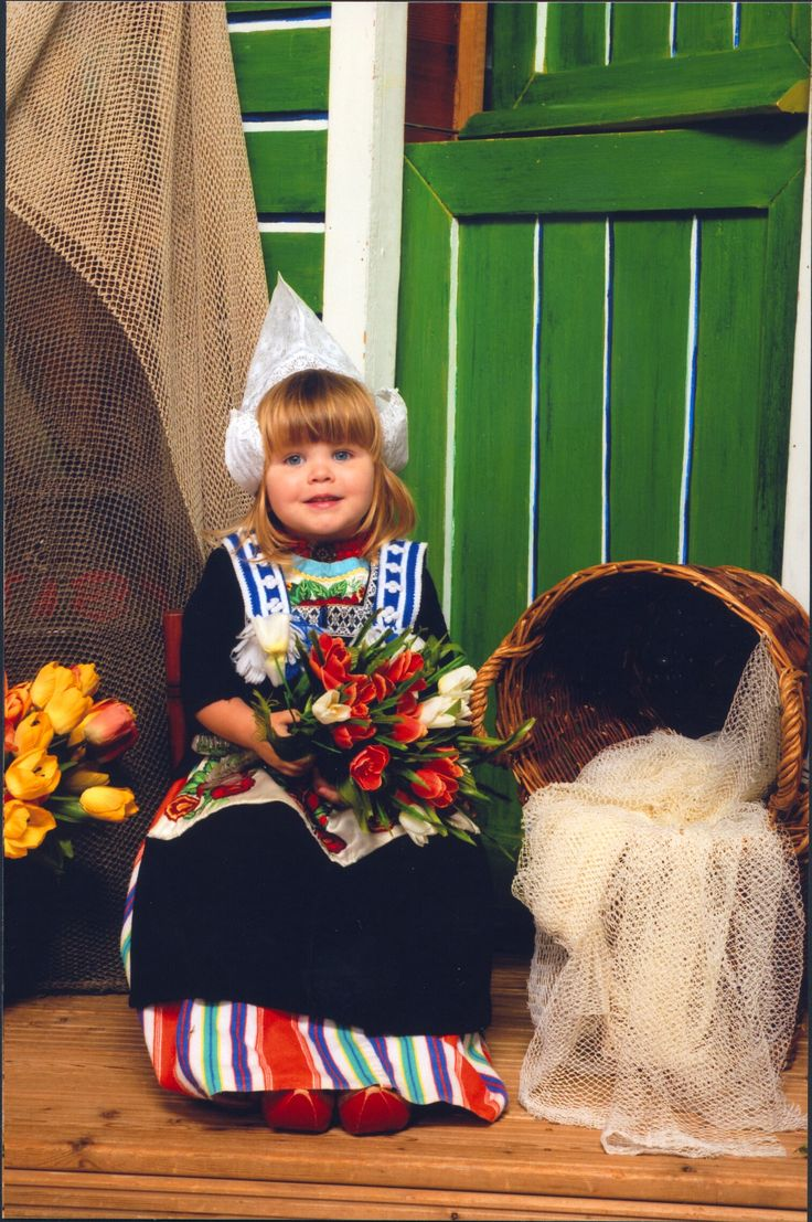 Meisje uit Volendam....little girl from Volendam.   This is what the world thinks of as Dutch...but each area has it's own attire.