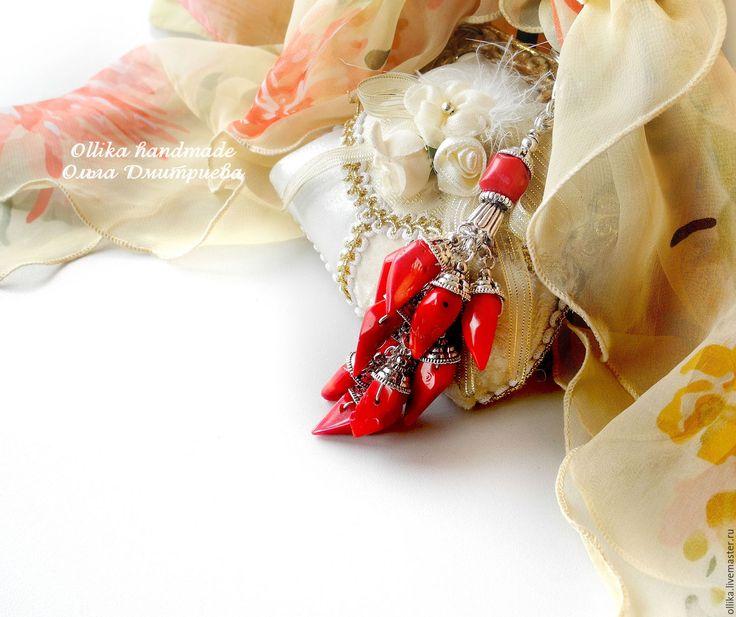 Купить Брелок Перчик или Для Любителей Поострее)), украшение с кораллом - оригинальный подарок