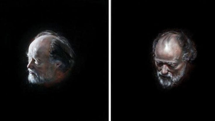 Bill-1383 by Louise Hearman- This portrait of Bill Henson just won the Moran Art Prize today (28/10/14)
