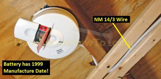 How to Install a Hardwired Smoke Alarm photo tutorial explaining how to troubleshoot AC power wiring in preparation for installing new detectors.