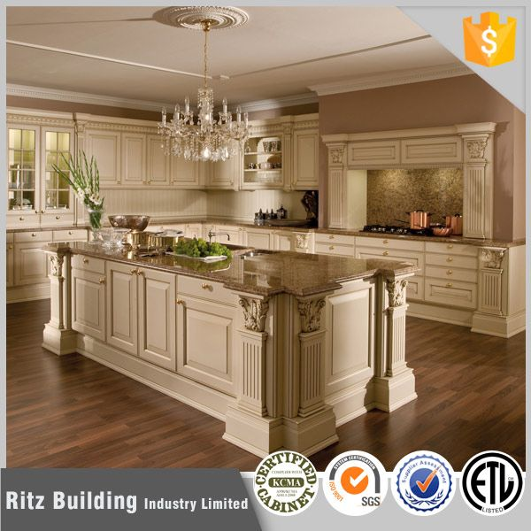 Classic Solid Wood New Model Laminate Kitchen Cabinet In