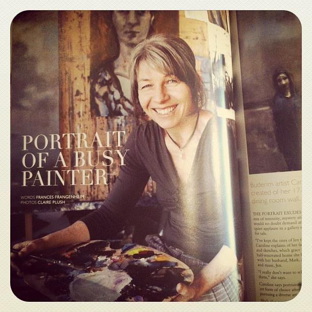 Awesome meeting with Caroline Magerl. Working on...something. Image: salt magazine #secretartistsbusiness