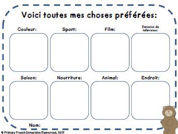 Back to school activities - Primary French Immersion Resources