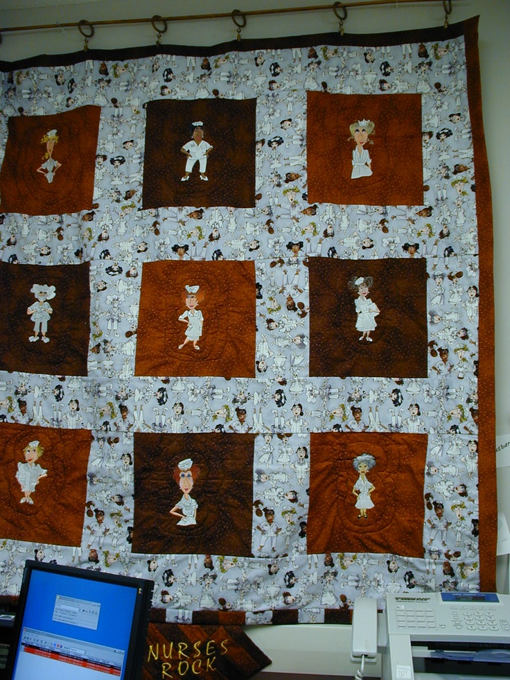 56 Best Nurse Quilt Images On Pinterest Nurses Nursing