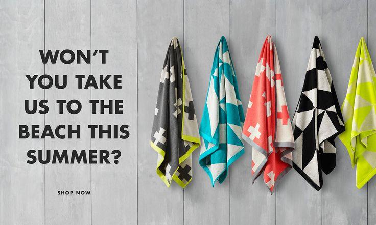 Won't you take an AURA towel to the beach this summer?