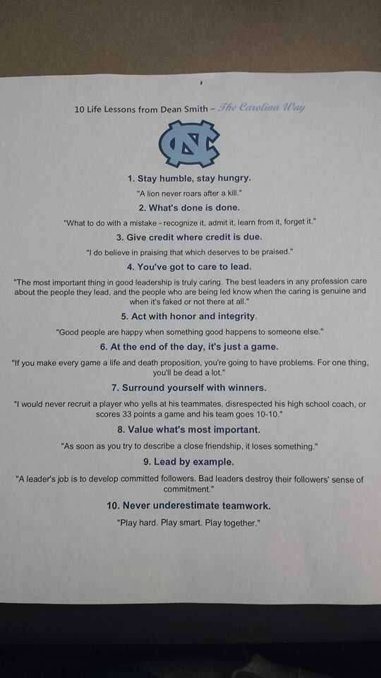 Life Lessons from Dean Smith