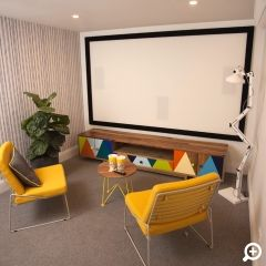 Godfrey Hirst   Home Theatre   The Home Team TV   Get the look with Hycraft from the Caribbean collection in Dominica. #godfreyhirst #hycraft #woolcarpet #diy #hometeamtv #carpets #godfreyhirstcarpets