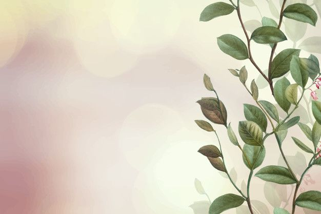 Green Floral Background Free Vector Free Vector Freepik