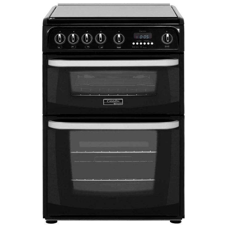 Cannon by Hotpoint CH60GCIK Gas Cooker with Variable Gas Grill - Black