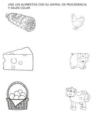 Actividades para trabajar los Animales y los Productos que Obtenemos..