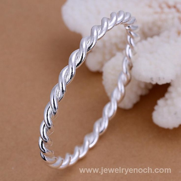 925 silver palted crazy twist bangle