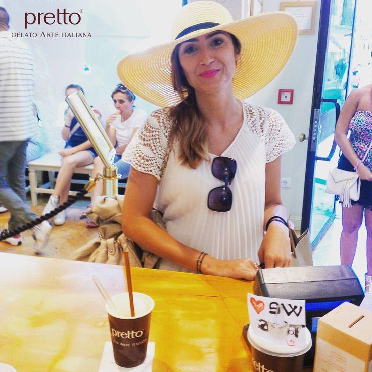 Niente di meglio di un gelato Pretto in un caldo giorno d'estate! Nothing like a Pretto icecream on a hot summer day! #ILMEGLIODALLANATURA #pretto #gelato #arte #italiana Style Shouts di Alessia Canella #gelatonaturale