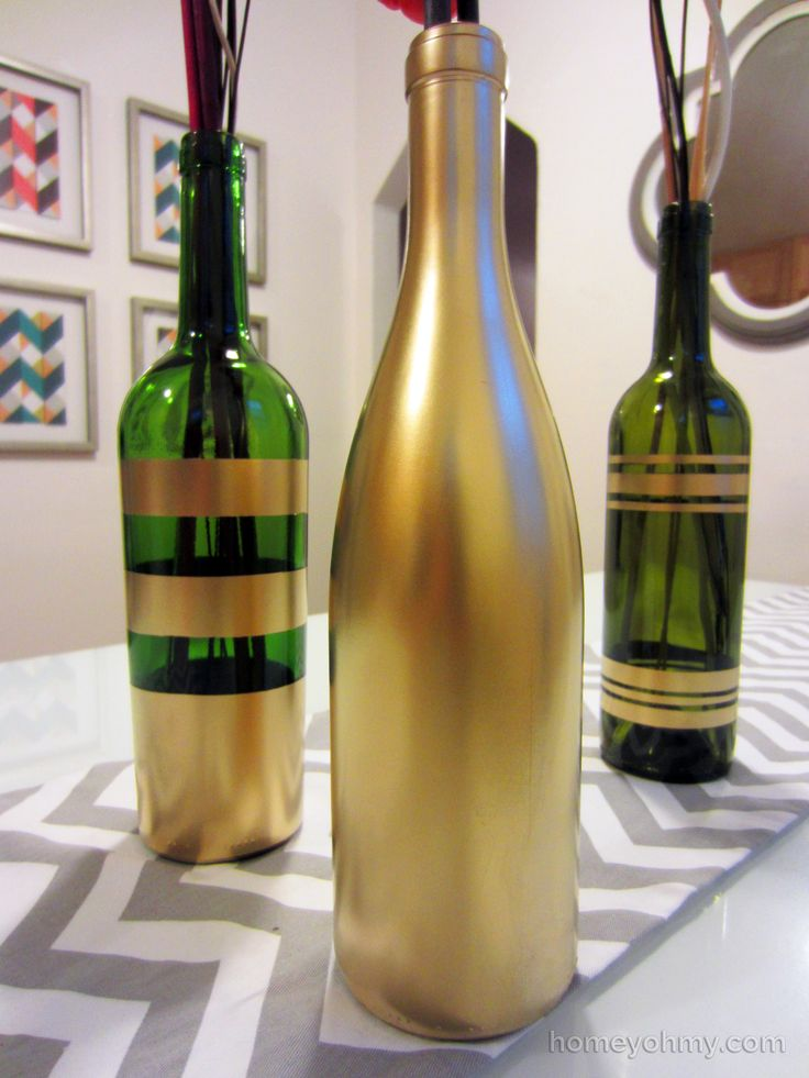17 best ideas about painting bottles on pinterest diy for Spray painting wine glasses