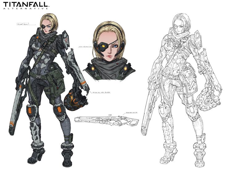 ArtStation - Mounted gunner, Titanfall fan art, Woo Kim
