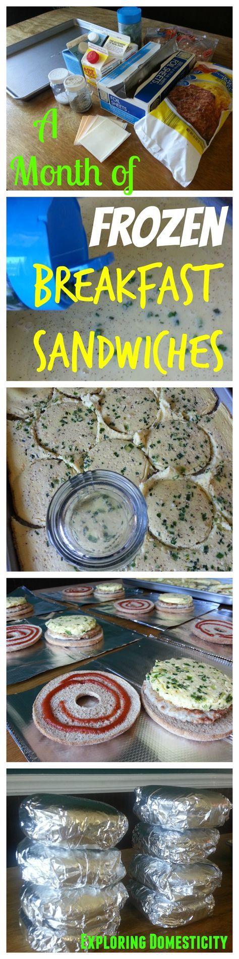 Frozen Breakfast Sandwiches for a month