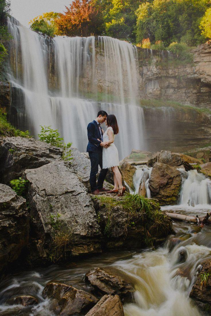 Webster's falls engagement photos