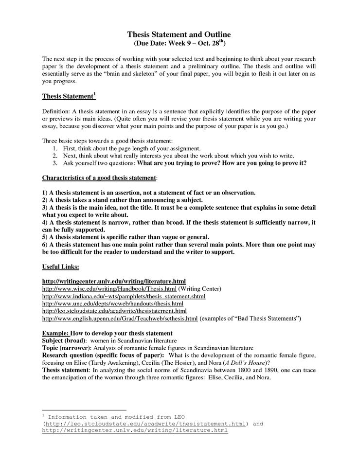 thesis statements examples for research paper narrative - Thesis Statement Examples For Narrative Essays