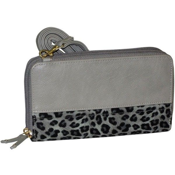 Buxton Posh Cheetah Double Zip Organizer Wallet ($21) ❤ liked on Polyvore featuring bags, wallets, double zipper bag, hardware bag, cheetah bag, buxton wallets and imitation bags