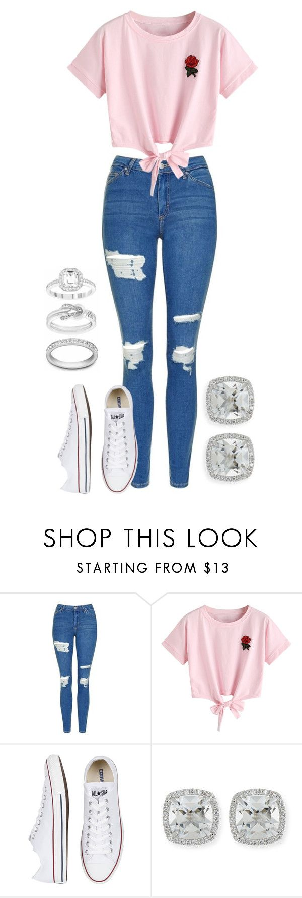 """Salida❤️"" by ale30rmz ❤ liked on Polyvore featuring Topshop, WithChic, Converse and Frederic Sage"