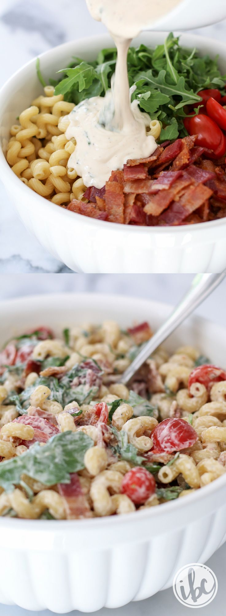 Upgrade your summer pasta salad recipe with this BLT Macaroni Salad. So delicious!