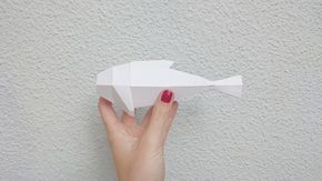 Fish papercraft done with folded panels what means that I've created my first lowpoly physical piece! This is so cool I had been wanting to try this since last summer  New skills adquired!  I can touch my 3D model #amazing  #love#design#graphicdesign#student#designer#graphicdesigner#girl#woman#tech#love#like#model#modelling#cool#nice#3d#C4D#visual#creative#illustration#pretty#beautiful#red#lowpoly#geometry#justforfun#paper#papercraft#fish#patience#lowpoly by artinveins