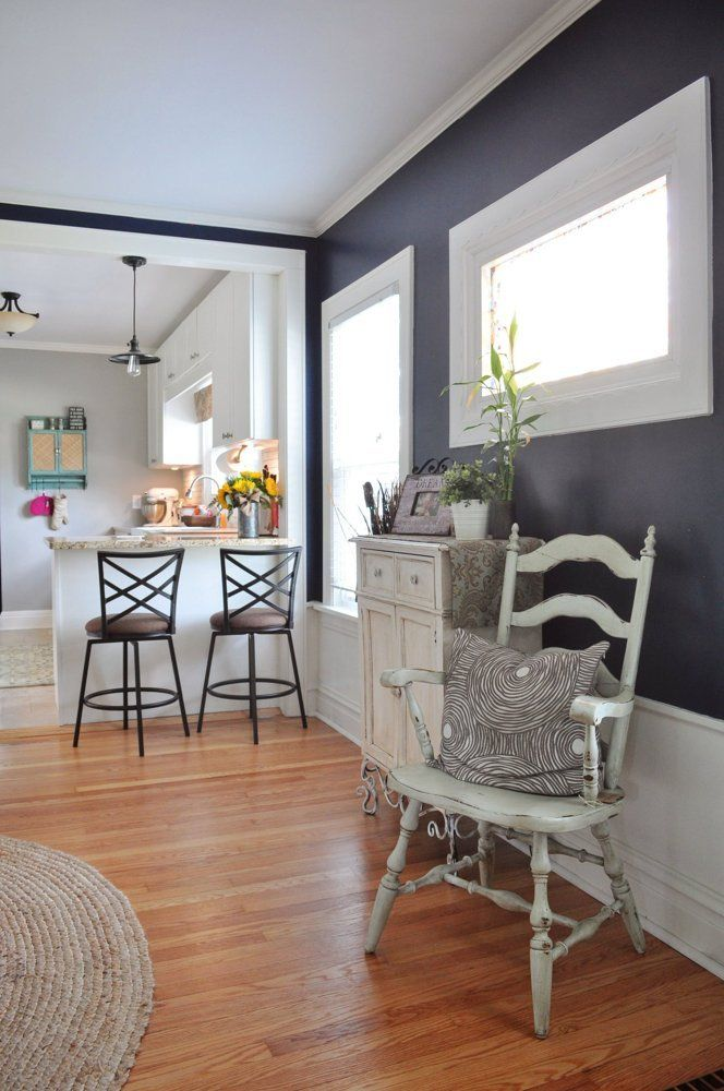 Beths New Meets Old Beach Cottage Inspired Bungalow Navy Dining RoomsDining Room WallsWarm ColorsBeach