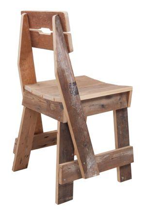 Piet Hein Eek. Plank chair in Dutch Scrap Wood