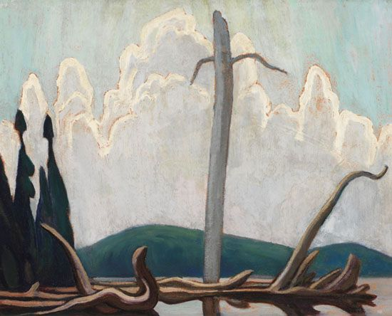 Lawren Harris - Joe Lake Algonquin Park 16 x 20 Oil on board (1920)