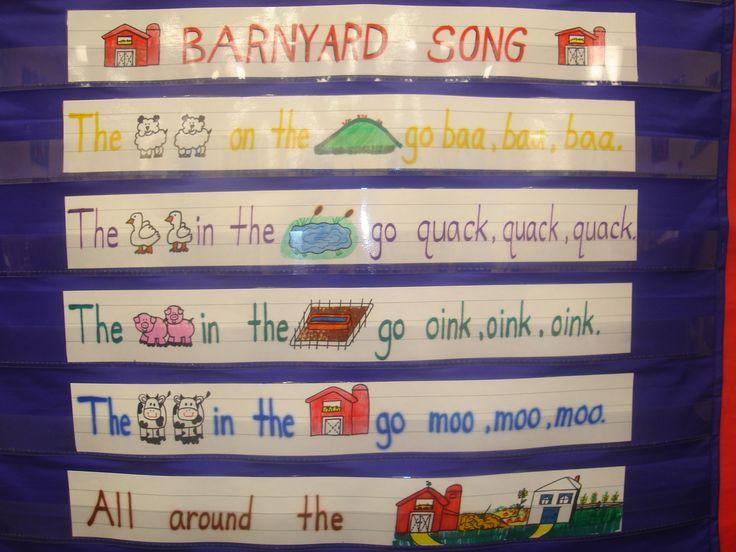barnyard song: Life Prek, Farm Kindergarten Unit, Farm Unit Kindergarten, Farm Poem Kindergarten, Farm Preschool, Theme, Preschool Songs Poems, Farms Kindergarten, Kindergarten Farm Unit