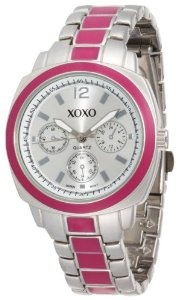 XOXO Women`s XO111 Silver Dial Silver-tone and Pink Enamel Bracelet Watch $19.99: Women Xo111, Xo111 Silver, Dial Silverton, Silver Dial, Enamels Bracelets, Dial Silver Ton, Xoxo Women, Bracelets Watches, Pink Enamels