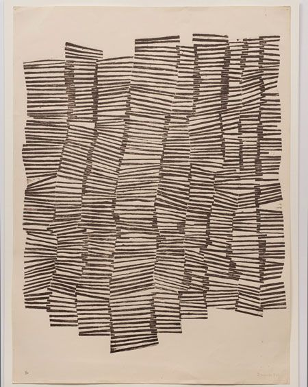 Zarina Hashmi, Untitled, 1970, mixed media, 76 × 56 cm