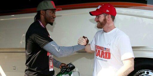 Dale Jr & RGIII. Ready for Redskins preseason game tonight. 8/18/14