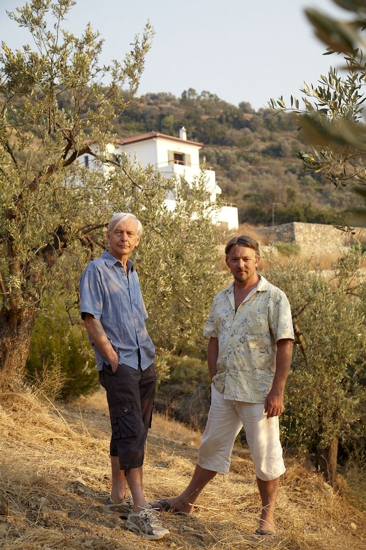 """IN BLUESkies and Black Olives: A Survivor's Tale of Housebuilding and Peacock Chasing in Greece (2009), Britain's legendary BBC journalist / """"national treasure"""" John Humphrys writes ..."""