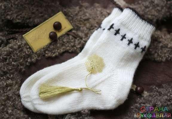 КАК СВЯЗАТЬ детские носки с «косой» пяткой - Тапочки.Носки .Пинетки - Вязание для детей - Рукоделие