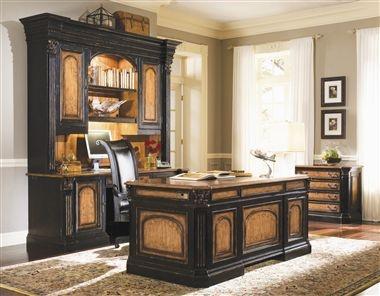 hooker furniture north hampton 4 pc executive desk set in two tone finish