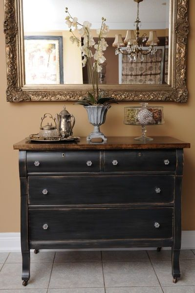 25 best ideas about black painted dressers on pinterest 16607 | 66ea5cd70a4ceb0fede0d80f6a78f84a orange dresser dresser top