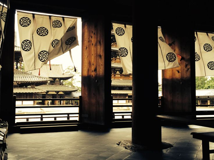 Hōryū-ji 法隆寺 oldest wooden buildings existing in the world. That wind was very special for me