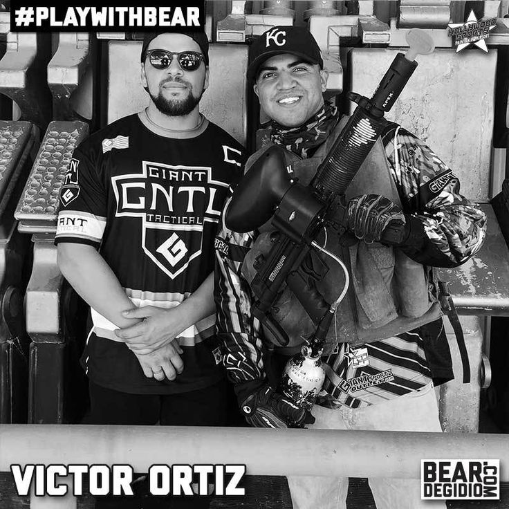 Boxer Victor Ortiz plays paintball at Hollywood Sports Park with Bear Degidio.