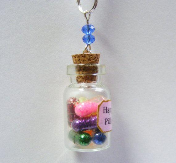 Best 25 happy pills ideas on pinterest glitter surreal for Pill bottle jewelry