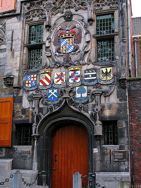 Doors ~ Gemeenlandshuis entrance ~ Delft, Netherlands // via Black Cat Studio